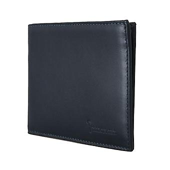 Blue leather bifold w65320023