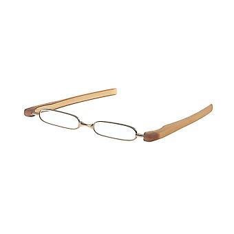 قراءة نظارات Unisex كاسر قوة براون +3.00 (le-0128A)
