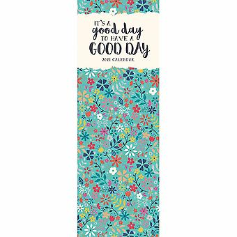 Otter House 2021 Slim Calendar-its A Good Day To Have A Good Day