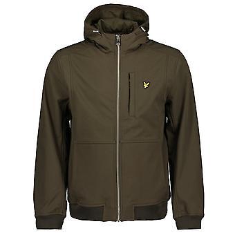 Lyle & Scott Jk1214v Zip a través de la chaqueta de capucha de cáscara suave
