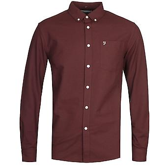 Farah Drayton Long Sleeve Burgundy Shirt