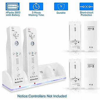 Remote Controller Charging Dock Station Usb 2/4 Port Charge Dock + 2/4 Battery