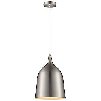 1 Ljus Dome Tak Hängande Satin Nickel, E27