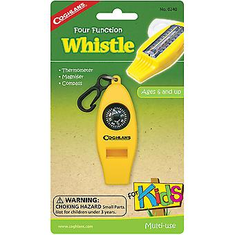Coghlan's Four Function Whistle for Kids Camp Thermometer, Vergrootglas, Kompas