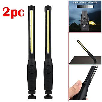 2 In 1 Rechargeable Led Cob Camping/work Inspection Light Lamp, Handtorch
