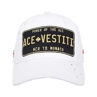 Ace Vestiti Paint Splatt Casquette de baseball plaquée - Blanc/Or