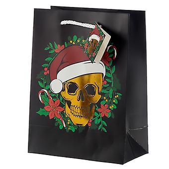 Metallic Skulls Medium Christmas Gift Bag