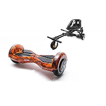 Package Smart Balance™ Hoverboard 8 Inch, Transformers Flame + Hoverseat With Suspensions, Motor 700 Wat, Bluetooth, Led
