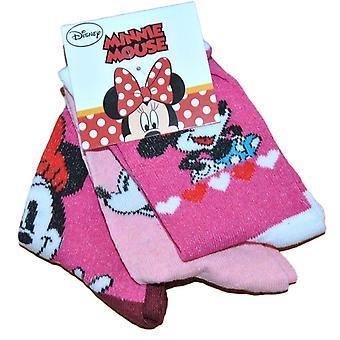 Mimmi Mouse strumpor  3-pack - Rosa