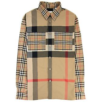 Burberry Tisford Patchwork Check Shirt Archive Beige