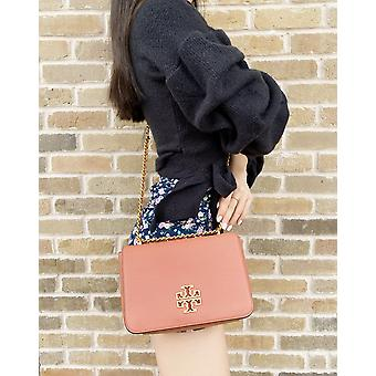 Tory burch britten adjustable shoulder bag crossbody tramonto pink leather