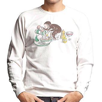 Curious George Cooking Men's Sweatshirt