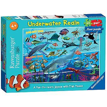 Ravensburger Puzzle Unterwasser Reich Riesen Boden Puzzle, 60 Stück