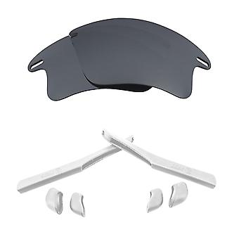 Replacement Lenses & Kit for Oakley Fast Jacket XL Silver Mirror & White Anti-Scratch Anti-Glare UV400 by SeekOptics