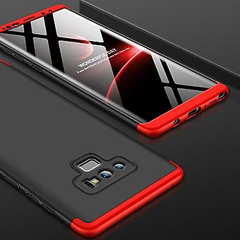 GKK Three Stage Splicing Full Coverage PC Case for Galaxy Note9 (Black+Red)