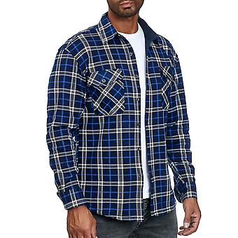 Men's Lumberjacket Chequered Thermo Shirt Lined Sweat Jacket Flannel Workwear