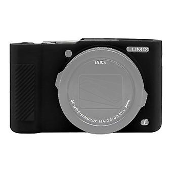 PULUZ Soft Silicone Protective Case for Panasonic Lumix  LX10(Black)