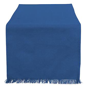 Dii Solid Navy Heavyweight Fringed Table Runner