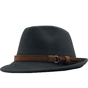 New Wool Women Men Fedora Hat For Winter Autumn Elegant Lady Gangster Trilby