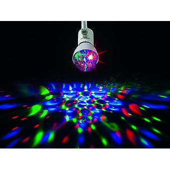 Crystal Ball Light Bulb - Party Light Disco Effect Full Color Rotating Bulb & Stage Lighting Dj - E27 Base Type