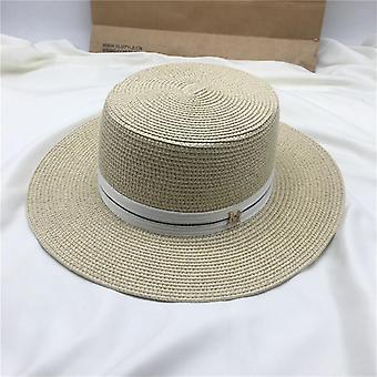 Women's Sun Hat - Female Summer M Letter Straw Visor Caps