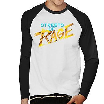 Sega Streets Of Rage Gold Logo Men's Baseball camiseta de manga larga