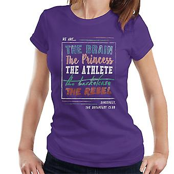 The Breakfast Club We Are The Brain Prinsessan The Athlete Women&apos,s T-Shirt