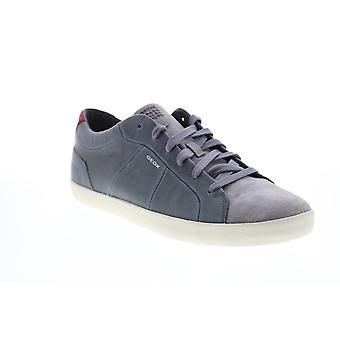Geox U Warley  Mens Gray Leather Euro Sneakers Shoes