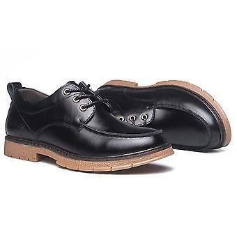 Men's Módne kožené práce čipky hore príležitostné topánky