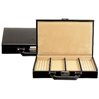 Windrose Ambiance valise annulaire en cuir noir