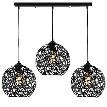 Lámpara colgante Seljuk color metal negro, L75xP25xA115 cm