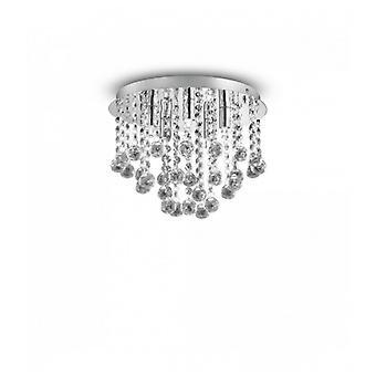 Lámpara De Techo De Cristal Cromado Con 5 Luces Bijoux