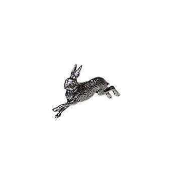 Running Hare Pewter Lapel Pin