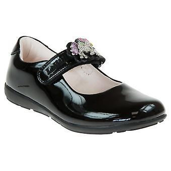 Lelli kelly blossom2 black patent school shoes l8213