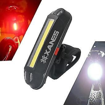 Bicycle warning night led light 500lm usb rechargeable