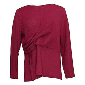 DG2 by Diane Gilman Women's Top Brushed Asymmetric Drape-Waist Pink 728209