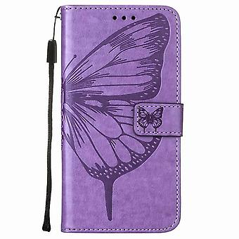 Butterfly pattern leather case for iPhone 11 6.1 - Purple clear