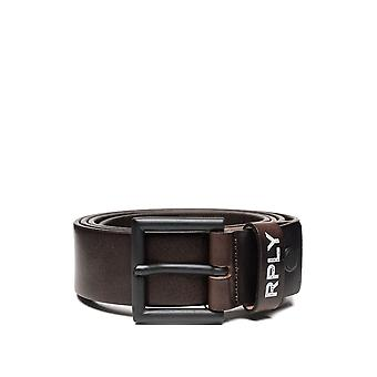 Replay Men's Hammered Leather Belt