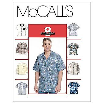 McCalls Schnittmuster 2149 Herren Shirts Größe 46-48 XLG