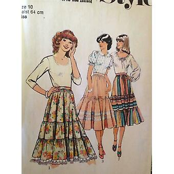 Style Sewing Pattern 2253 Misses Ladies Skirts Size 14 Uncut