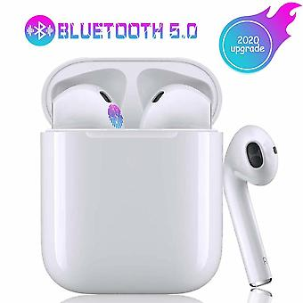 Bluetooth Earphones V5.0, Wireless Headphones Touch Noise Canceling 3D IPX7 Waterproof Stereo Earphones Built-in Microphone and Charging Case Earphones, for Apple / iPhone / Android / AirPods Pro (i11-TWS)