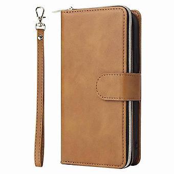 Stilvolle Leder Brieftasche Fall für iPhone 11 Pro 5.8 - braun