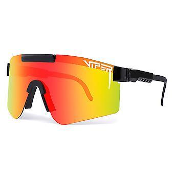 Pit-viper polariserede sportssolbriller UV400 Udendørs Cykling Løbebriller til mænd Kvinder