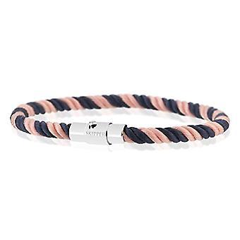 Skipper 8164 - Kudottu nailon rannekoru, magneettinen sulkeminen, väri: sininen / vaaleanpunainen ja ruostumaton teräs, väri: viite. 4251061146015