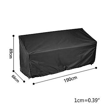 210D Garden Bench Cover Waterproof Anti UV Heavy Duty Bench Protective Chair Cover(190x66x89cm)