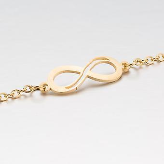 Bracelet plaqué or avec symbole pour toujours pour les femmes