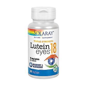 Solaray Lutein Eyes, 18 mg, 30 bouchons Veg