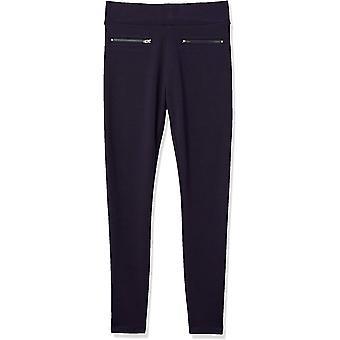 Daily Ritual Women's Ponte Knit Skinny-Fit Zip Pants, Navy, XX-Large