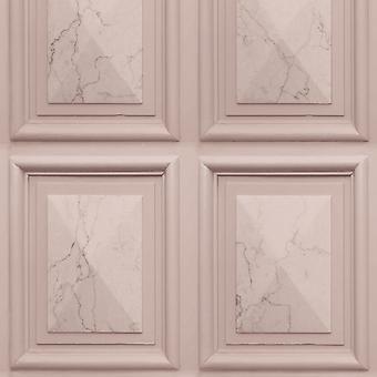 Marble Wood Panel Effect Wallpaper Blush Pink World of Wallpaper AG500-35