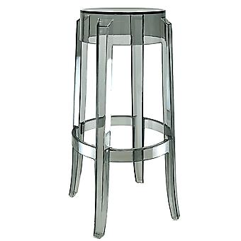 Fusion Living Smoke Grey Ghost Style Low Stool - 76cm - Set Of 6